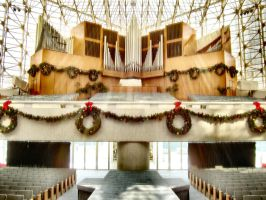 Crystal Cathedral Christmas by Royce-Barber