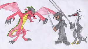 Confronting the dragon by TroodonKid2007