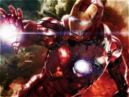 iron man wall paper by abdocena