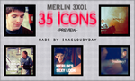 Merlin 3x01-35 icons by inacloudyday
