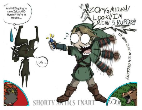 Link and Midna Funny by shorty-antics-fanart