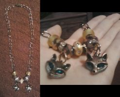 Fox Charms, Necklace by HelloKittyTsi