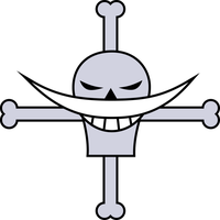Whitebeard Flag - White-cross. by zerocustom1989