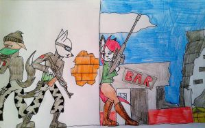 trouble around the corner by FurNaz