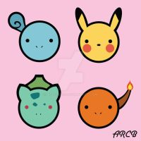 Cute First Gen starters by acberdec