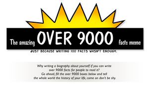 The over 9000 facts meme by AmazingDX