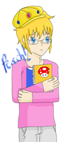 peach as a guy :D by Butterfinger-Sharpie