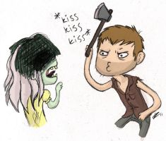 Daryl Dixon - KissKissKiss by Squishy-Mew