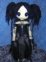 Gothic Amy Lee Rag Doll by Zosomoto