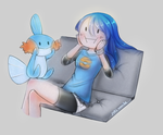 Mudkip face by YukiVanille