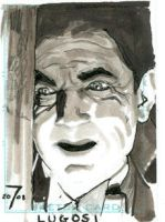 Lugosi Sketch Card by Roguehill