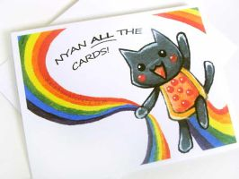 Nyan ALL the Cards by sobeyondthis