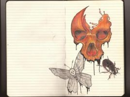 Skull and insects by Willx03