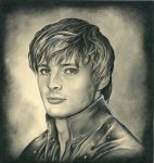 Arthur Pendragon Smiling by ebe-kastein