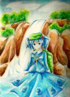 Nitori Kawashiro - Waterfall by shinyskymin