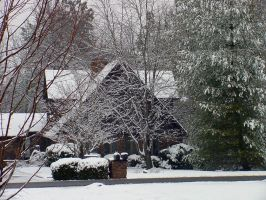 Snowy home by estesgraphics