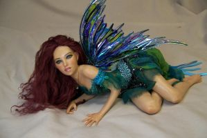 Cyan ooak fairy by AmandaKathryn