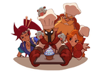 Baker Pantheon and Friends by liyart