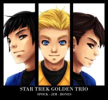 Star Trek Golden Trio by Iksia