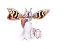 Mothra by WesyWesWesSoFresh