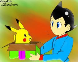 Pika in a box By SilverRiku Colored by MegamanXstream