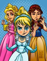 Big Bang Theory- Princess Posse by lordmesa