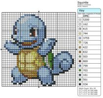 7 - Squirtle - Shiny by Makibird-Stitching