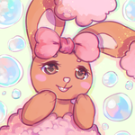 bubbly buneary by healingpotions