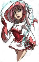 Py's ' White Mage ' by littledigits