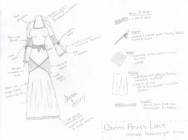 Queen Anne's Lace Sleeved Dress by ShanSherazi