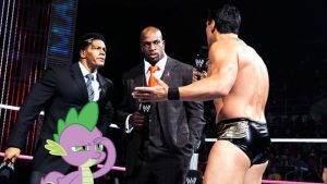 Del Rio, Spike and The Two Businessmen by RicRobinCagnaan