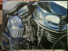 'Strokes' Oil painting by Mike Ashworth by Mikeashworthtattoos