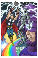 Silver Surfer and Thor by RamonVillalobos
