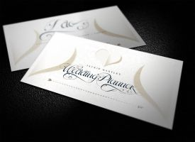 Elegant Business Card and Event Card by ShermanJackson