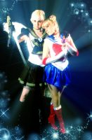 Sailor moon and Uranus by usagi999