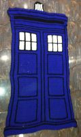 TARDIS Throw by ColourdyCrochetHooks