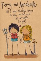 Percy and Annabeth by Pinkie-Perfect