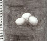 Pencil DRAWN eggs by Marchion