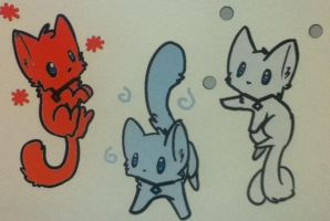 fire flower, air, snow kittens adoptable (closed) by pokemonftw1