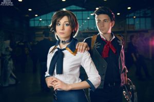 BIOSHOCK INFINITE: Elizabeth and Booker DeWitt by Mirum-Numenis