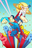 SUPERMAN and POWERGIRL by k-kumahachi