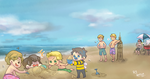 [SPN] as babies at the beach by Ahtsu