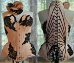 net beaded corset by AtelierSylpheCorsets