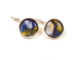 Starry Night Melted Crayon Earrings by annjepsen