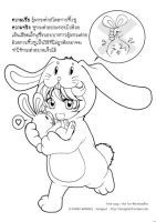 Line art - How to hold rabbit. by honeynut