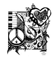 Peace Love and Rock n' Roll by iamxam