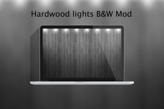 Hardwood W Lights BW.jpg by matejstipic