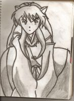 inuyasha siting by speedy1055
