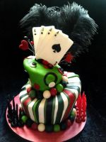 Playing Card Topsy Turvy Cake by vix4711