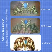 Old Vs New : Zelda Crown by GothLoliChanKaru